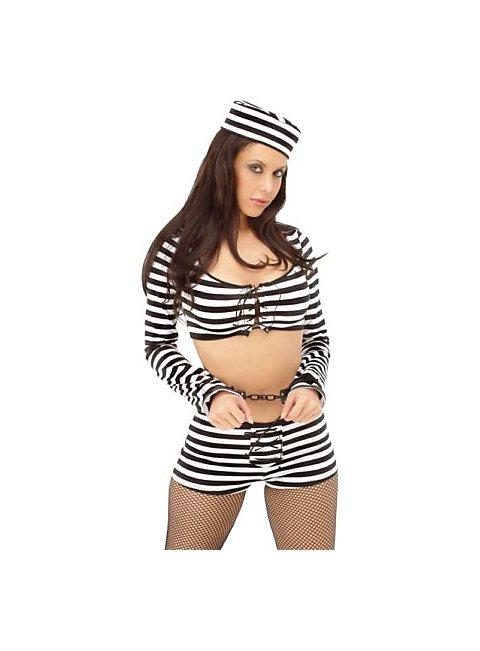 Sexy Strafgefangene Kostüm