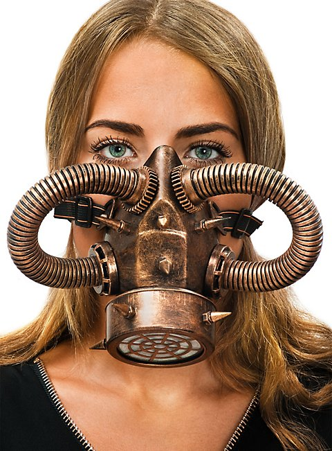 steampunk gasmaske kupfer jetzt online bestellen. Black Bedroom Furniture Sets. Home Design Ideas
