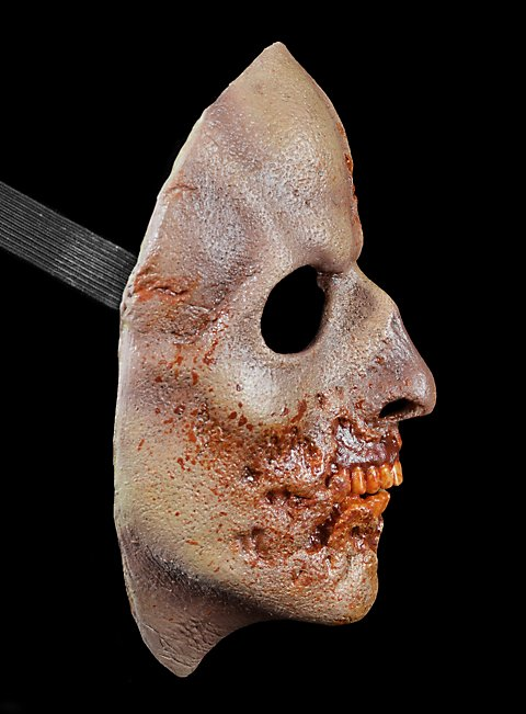 The Walking Dead Angefressener Zombie Halbmaske aus Latex