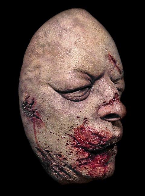 The Walking Dead Aufgequollener Zombie Halbmaske aus Latex