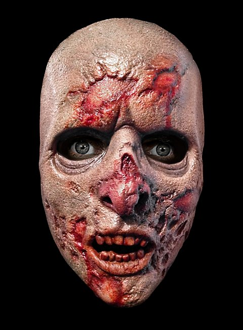 The Walking Dead Gefängnis Zombie Halbmaske aus Latex