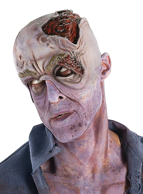 The Walking Dead Zombie Kopfteil aus Latex