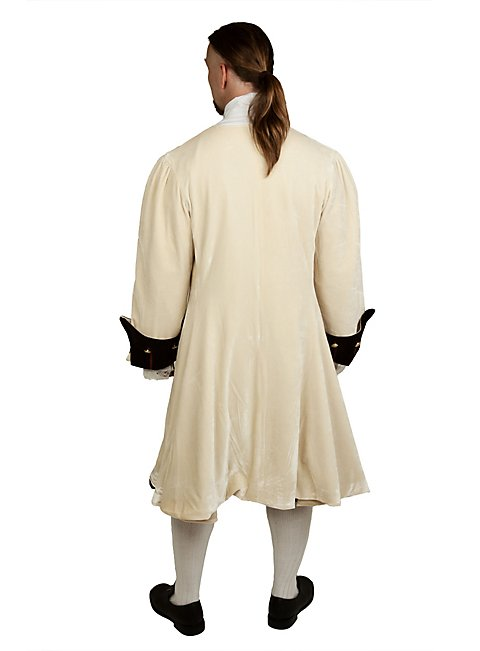 Velvet Dress Coat white