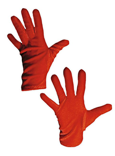 Velvet Gloves red