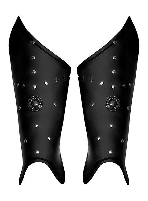 Waffenmeister Beinschienen schwarz