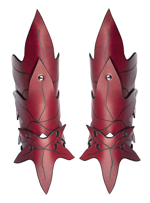 Waldelfe Armschienen rot