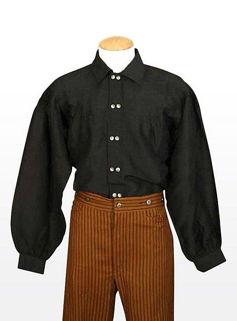 Western Gambler Shirt Black