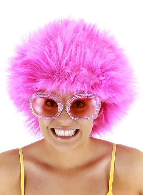 Wuschel-Perücke pink