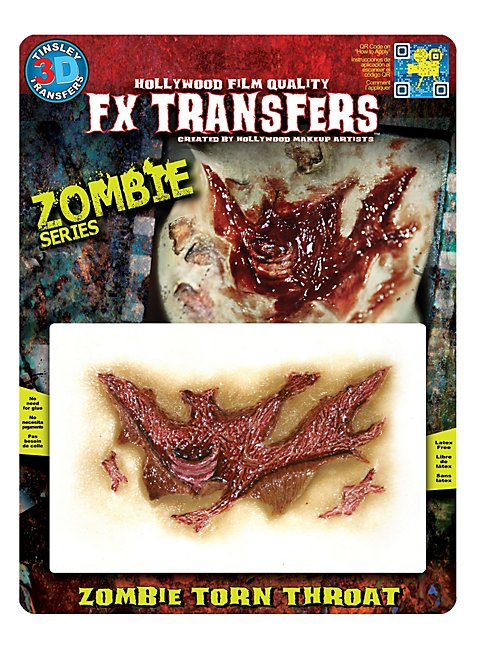 Zombie Kehlenwunde 3D FX Transfers