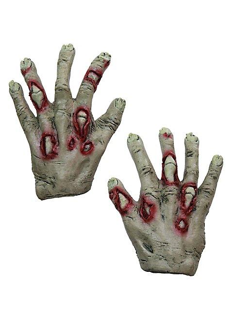Zombiehände für Kinder grün