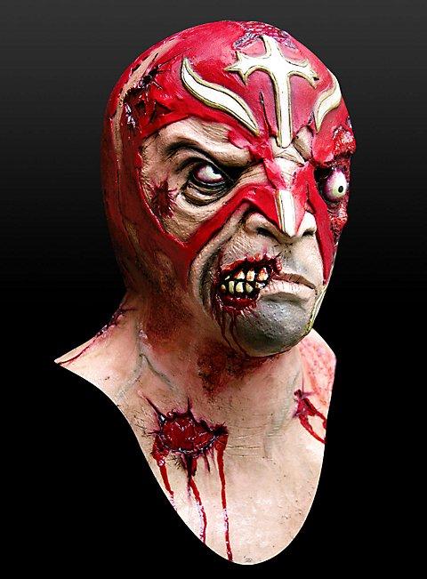 Zombieheld Maske aus Latex