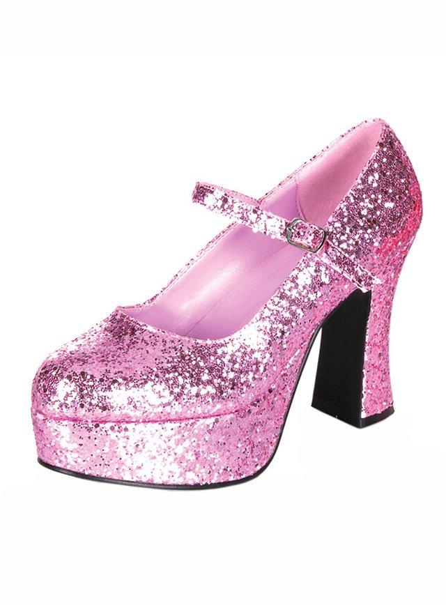 Details zu Plateauschuhe glitter Glitzer pink High Heels 10cm Absatz Rockabilly Gogo