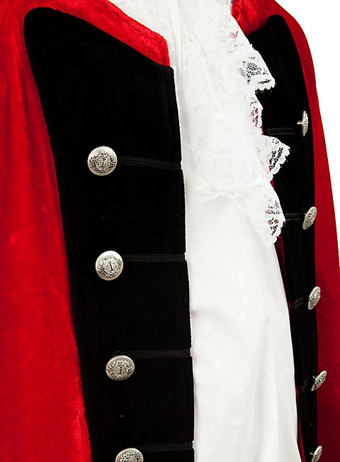 Velvet Dress Coat red