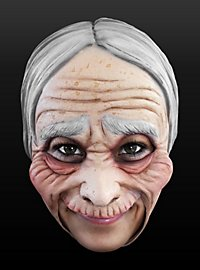 Old Lady Chinless Mask Made of Latex