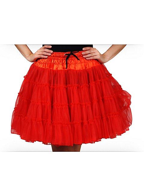 Petticoat Deluxe rot für Herzkönigin Kostüm