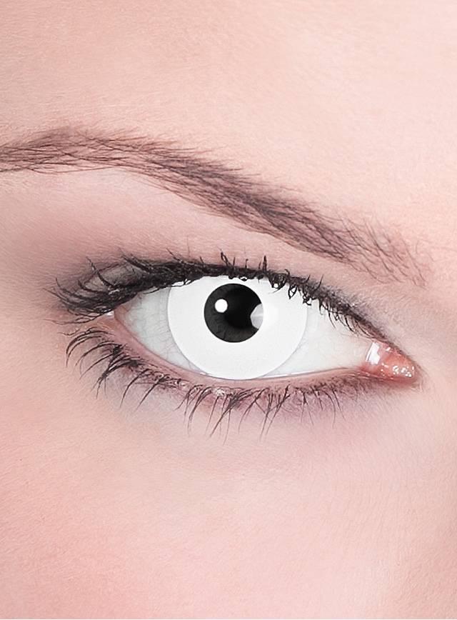 wei e untoter kontaktlinsen zombie linsen wei halloween. Black Bedroom Furniture Sets. Home Design Ideas