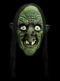Schrumpelhexe Maske aus Latex