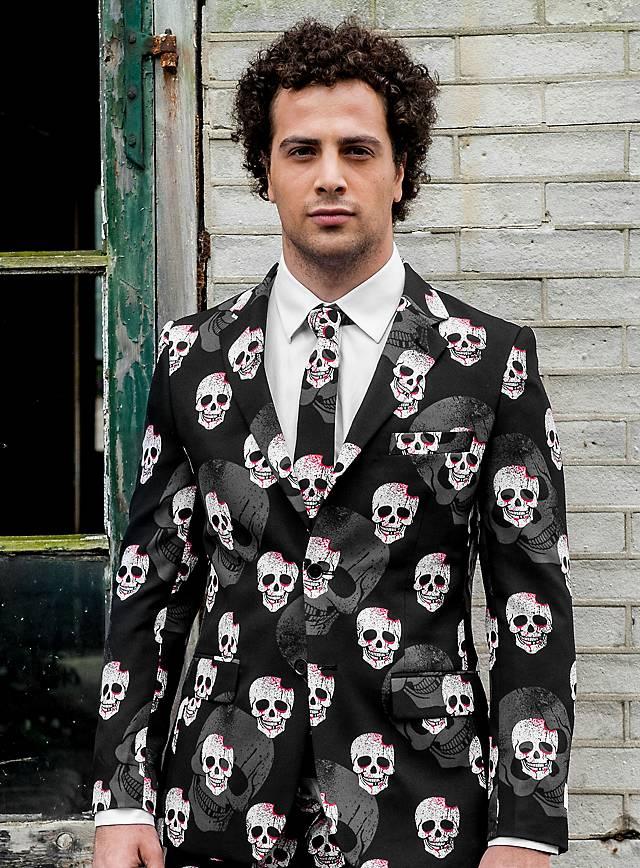 Leider style opposuit skulleton anzug schwarz halloween - Hipster anzug ...