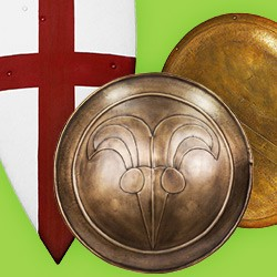 Shields in different designs, inspired by a variety of epochs and fantasy, in top quality at maskworld!
