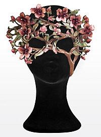 Cherry Blossom Branch Leather Eye Mask