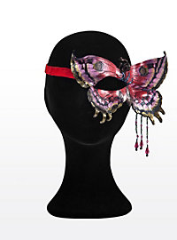 Eye Patch Butterfly silver  Made of Leather