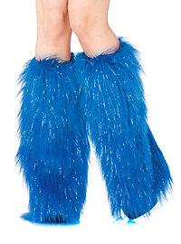 Legwarmer blau-silber