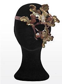 Sommernachts-Elfe Eichenzweig Halbseitige Augenmaske aus Leder