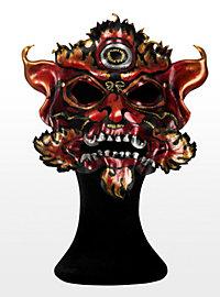 Tibetan Dragon Leather Half Mask