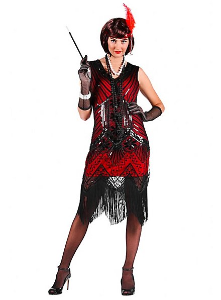 20's cocktail dress wine red