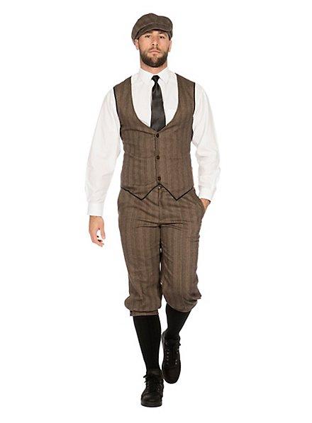 20's dandy brown costume set for men