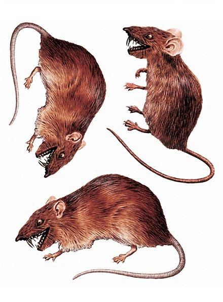 3d Ratten Sticker Set Halloween Deko Maskworld Com