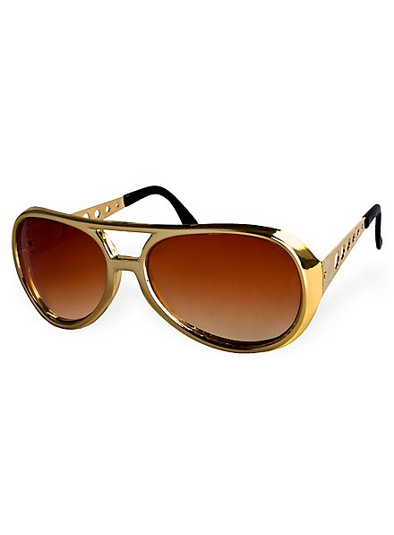 """70er """"King of Rock"""" Sonnenbrille gold"""