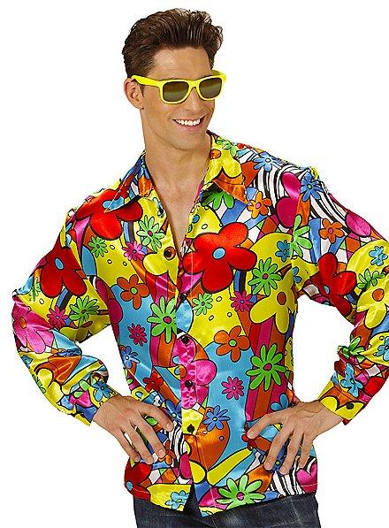 70s men's shirt Flowerpower