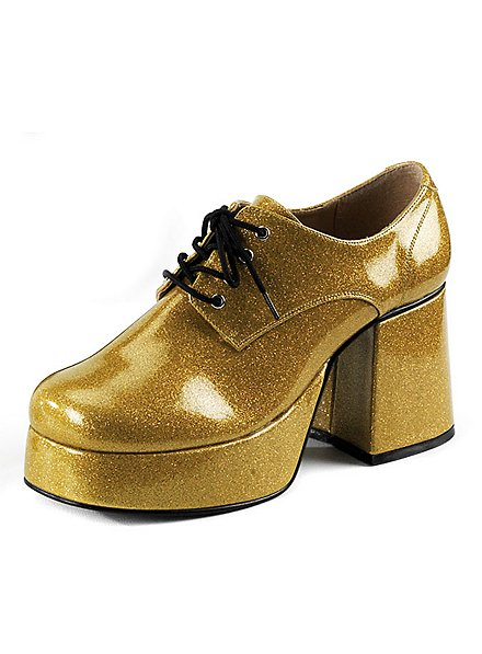 70's Platform Shoes Men gold