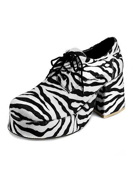 70's Platform Shoes Men zebra