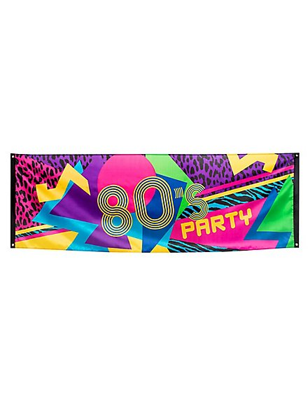 80s Party Banner