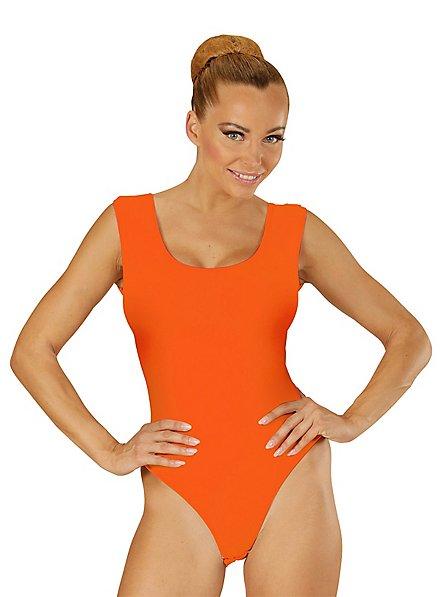 Ärmelloser Body orange