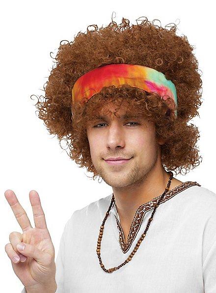 Afro Hippie Perücke mit Stirnband