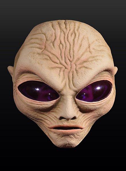 Alienmaske Außerirdischer aus Latex