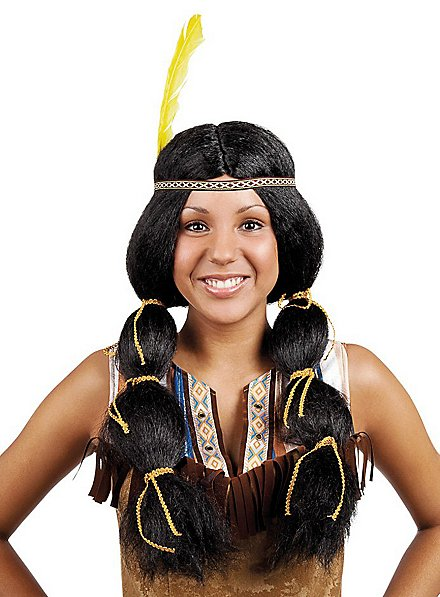 American Indian Pigtails Wig