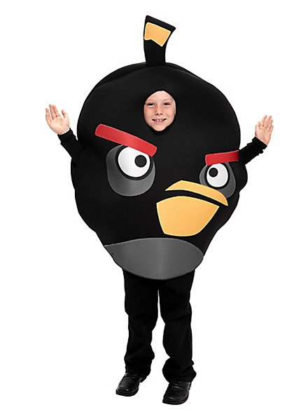 Angry Birds Kids Costume black