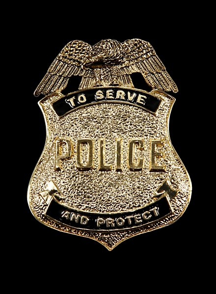 Antique Police Badge gold-plated