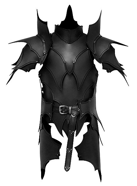 Armure d'elfe noir avec tassets en cuir