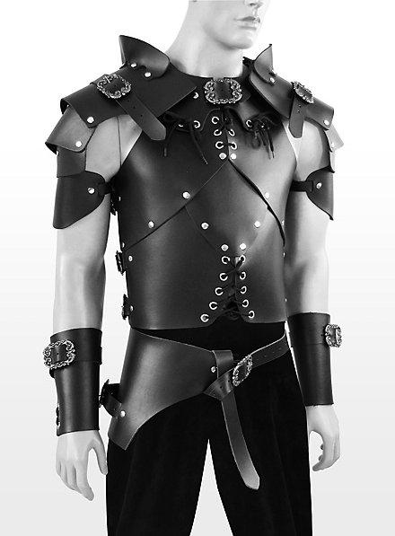 Armure de brigand en cuir noir