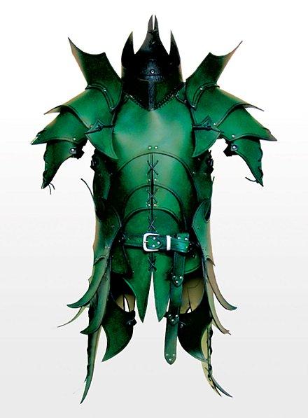 Armure de guerrier Orc en cuir vert