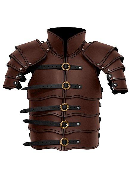 Armure d'éclaireur en cuir marron