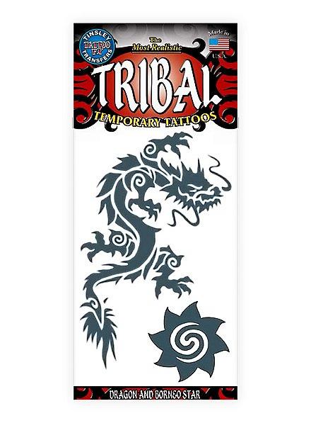 Asiatischer Drache Klebe-Tattoo