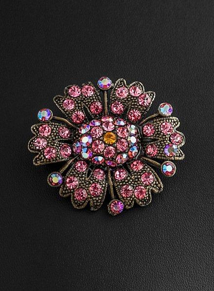 Asternblüte Brosche antik