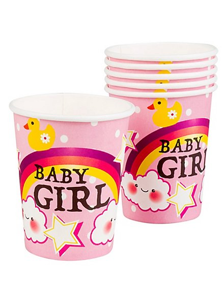 Baby Girl Pappbecher 6 Stück