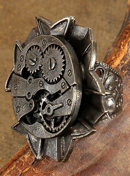 Bague mécanisme steampunk à l'ancienne